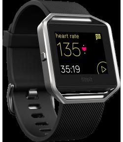 Умные часы с пульсометром и GPS Fitbit Blaze Black
