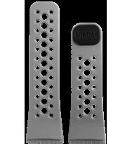 Сменный ремешок для фитнес трекеров Lifetrak Ultra-Soft Silicone Black/Titanium