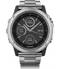 Многофункциональные GPS-часы Garmin Fenix 3HR Sapphire Silver – Titanium band