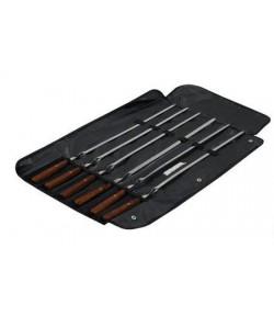 Набор шампуров с деревянными ручками BQ-0710(8) /4820152610652/
