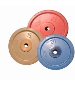 Диск обрезиненный цветной 10 - 25 кг